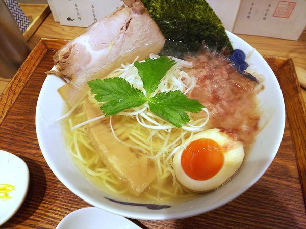 「追い鰹そば(白醤油) 900円」@麺屋 猪一 離れの写真
