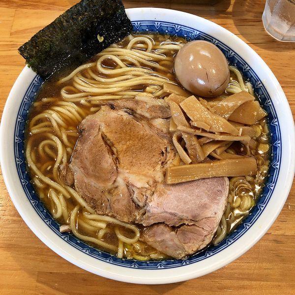 「ラーメン(中)+味玉¥850」@自家製中華そば としおかの写真