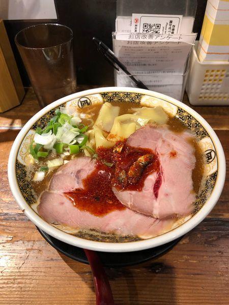 「こってりラーメン(830円)焼豚(100円)」@すごい煮干ラーメン凪 渋谷東口店の写真