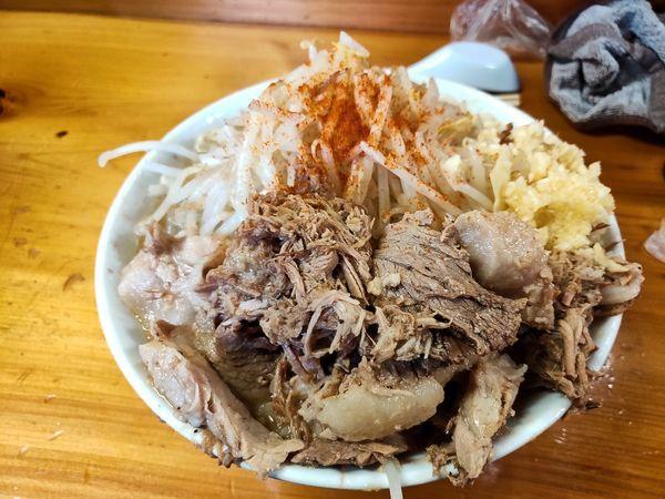「ラーメン小 野菜マシにんにく」@ラーメン池田屋 吹田店の写真
