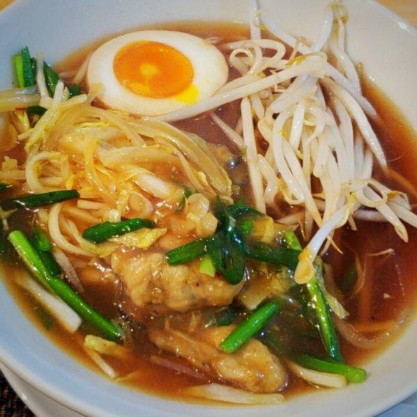 「【本日の限定】牡蠣と野菜の汁そば 900円」@汁そば といろの写真