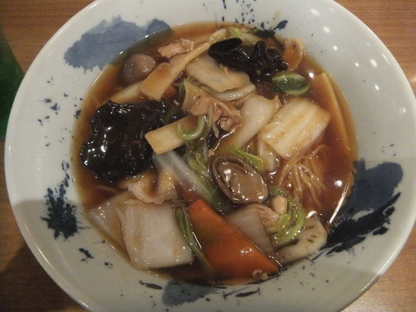 「五目醤油とろみ麺&小龍包2個1350円がランパスで540円」@紅虎餃子房 モラージュカシワ店の写真