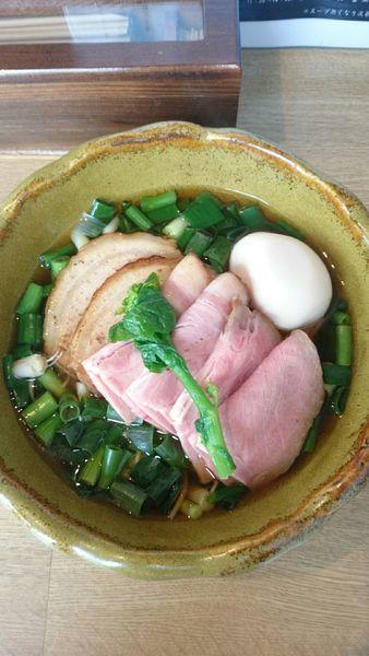 「炙り葱叉焼そば   1200円」@麺屋 椿丸の写真