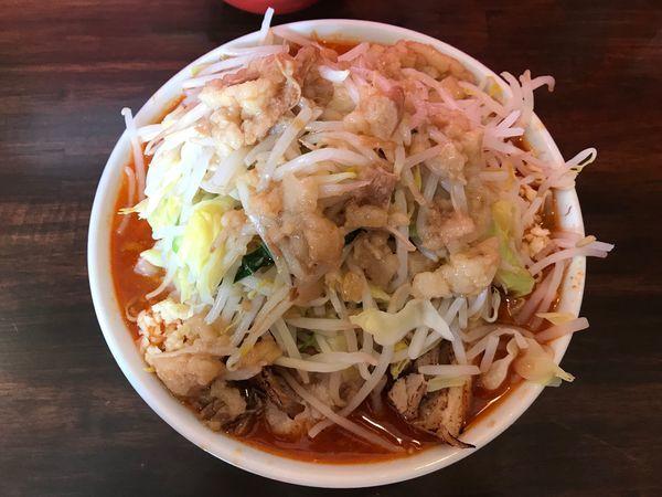 「辛いラーメン300g(全マシマシ)+生卵」@龍麺 ふえ郎の写真