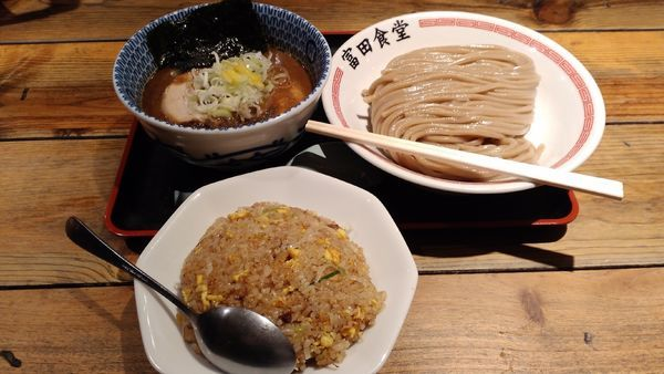 「濃厚つけ麺+チャーハン小¥1200」@松戸中華そば 富田食堂の写真