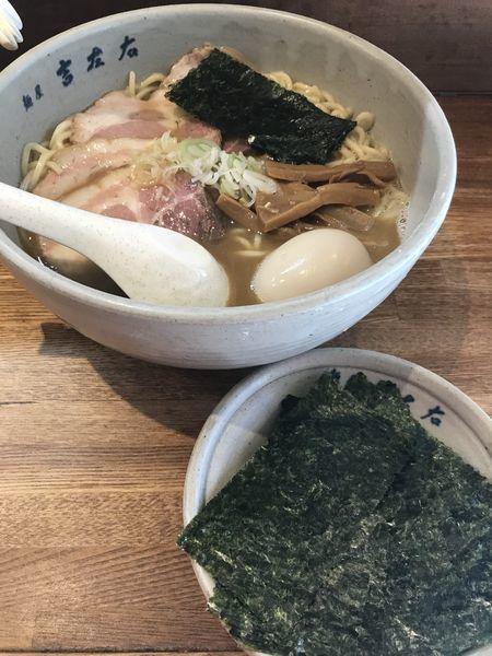 「チャーシュー、味玉、のり大盛りラーメン」@麺屋吉左右の写真