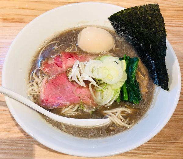 「【限定】大人の煮干+味玉(¥930)」@らーめん 改の写真