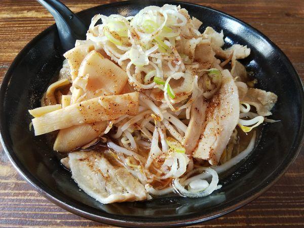 「魚介系すた麺 (麺大盛り:金曜サービス100円⇒40円)」@麺屋さくらの写真