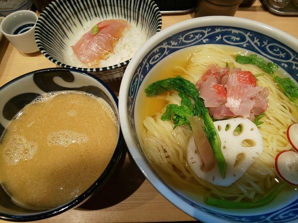 「金目鯛のつけそば」@寿製麺 よしかわ 西台駅前店の写真