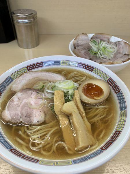 「煮干しラーメン&煮豚丼」@煮干鰮らーめん 圓の写真