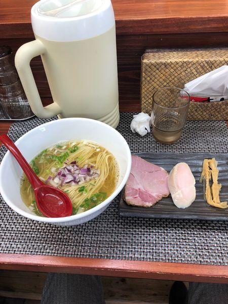 「鯵塩そば」@麺や 睡蓮の写真