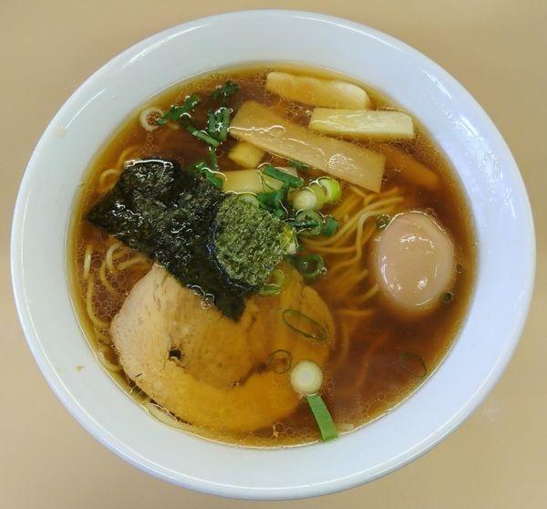 「白メンマの醤油ラーメン+味玉」@支那そば 心麺の写真