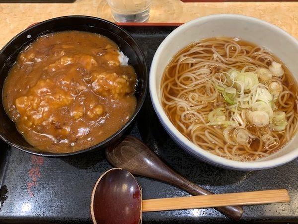 「カレー丼セット 560円」@小諸そば 御徒町店の写真