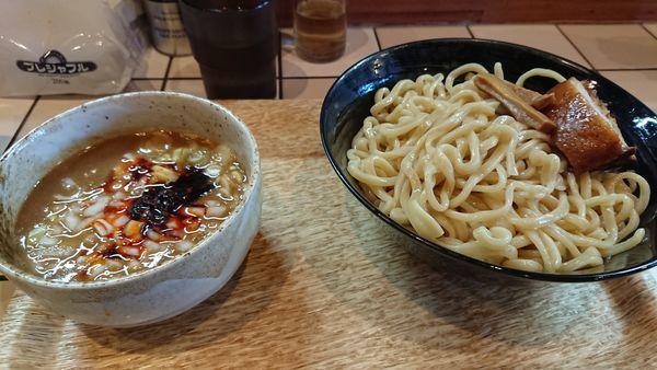 「濃厚辛つけ麺大盛」@つけめん らーめん ブータンの写真