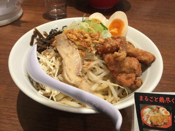 「ガッツリ鶏まぜそば980円」@濃厚鶏そば 麺屋武一 北千住店の写真