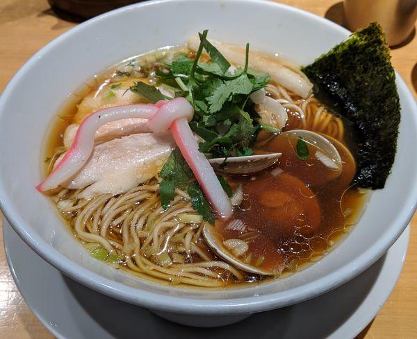 「蛤SOBA 980円」@Ginza Noodles むぎとオリーブの写真