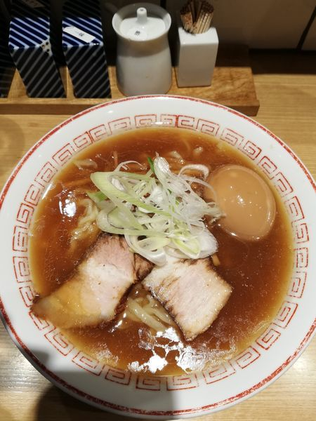 「味玉醤油ラーメン すっきり(750円)」@きたかた食堂の写真