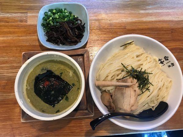 「牡蠣白湯塩つけ麺 ご飯セット 1,050円」@二代目 白神の写真