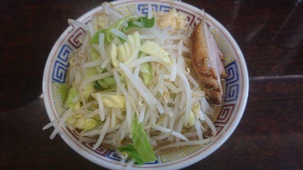 「ミニラーメン(野菜ニンニク)」@ラーメン二郎 めじろ台店の写真