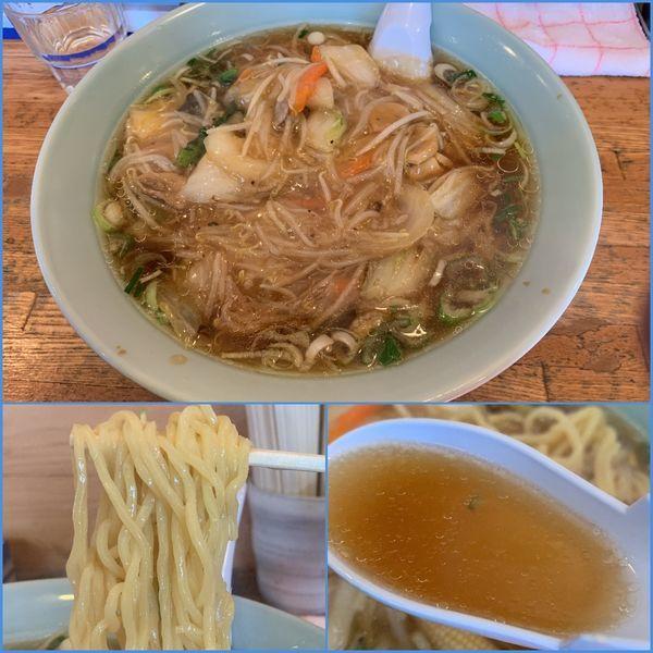 「サンマーメン(太麺・麺大盛り)¥680」@ラーメン処 よなかそばの写真