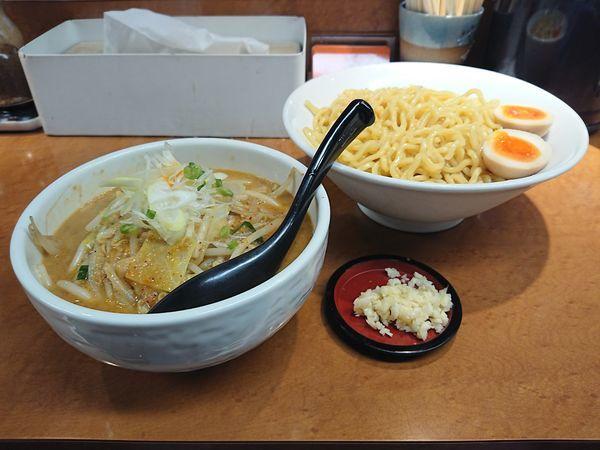 「辛味噌つけ麺+味付玉子」@萬馬軒 花橙の写真