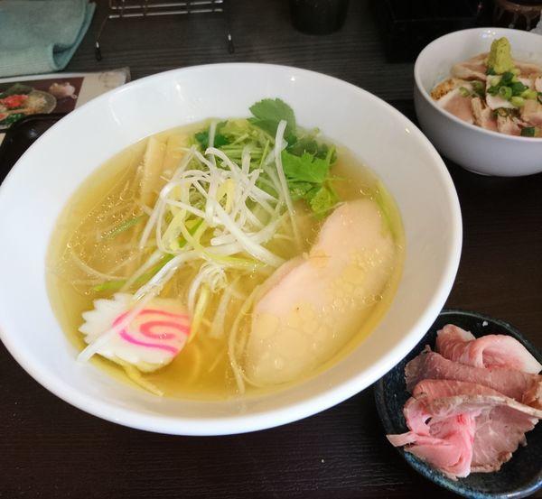 「天草大王とカニ煮干しの中華そば塩」@麺匠えにしの写真