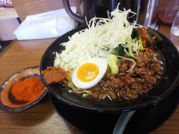 「ニラタマヒーヒー麺890円」@ライスとらーめん立川家 いせさき店の写真