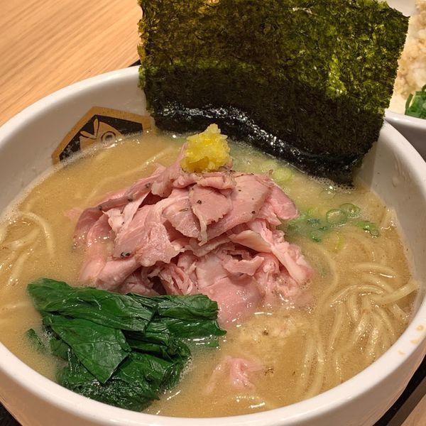 「濃厚真鯛ラーメン雑炊セット」@真鯛らーめん 麺魚 錦糸町PARCO店の写真