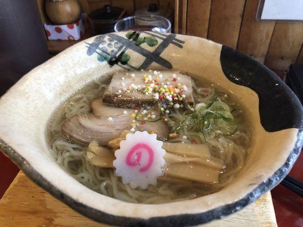 「竹燻製塩ラーメン」@麺 玉響 刈谷店の写真