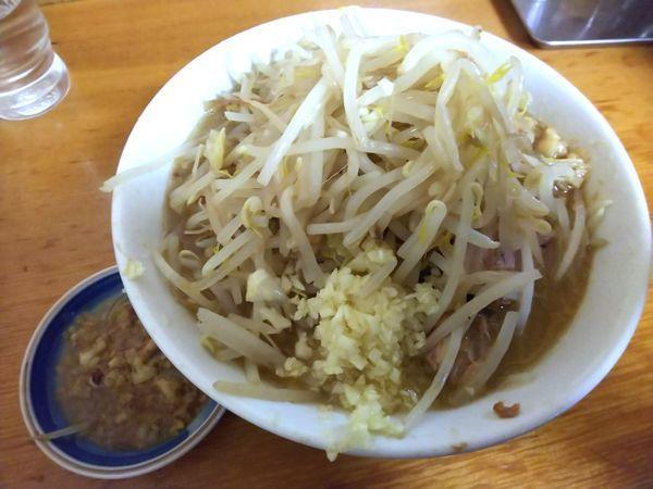 「ミニラーメン にんにく野菜あぶら 700円」@ラーメン もみじ屋の写真