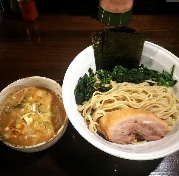 「つけ麺(醤油)、レン草、海苔、野菜抜き」@ちばから 渋谷道玄坂店の写真
