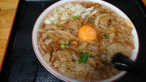 「【限定】スタミナ式背脂ラーメン 930円」@気むずかし家の写真