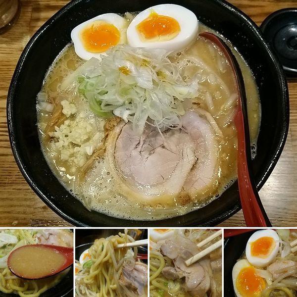 「味噌ラーメン+半熟玉子=950円」@麺処 花田 上野店の写真