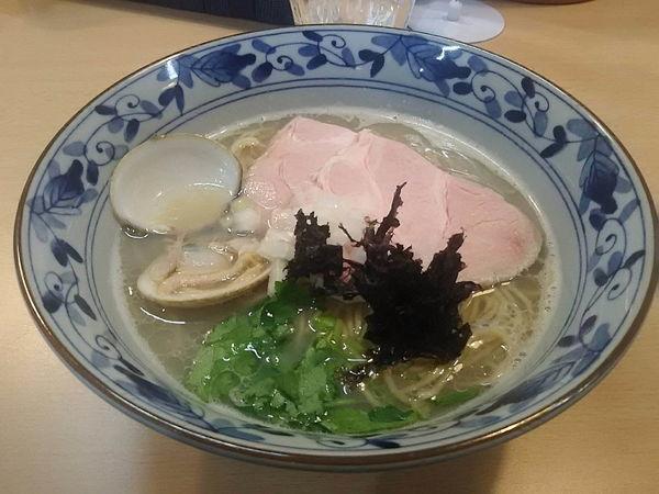 「貝と鴨の潮そば+和え玉=1130円」@㐂九八 ~garage~の写真