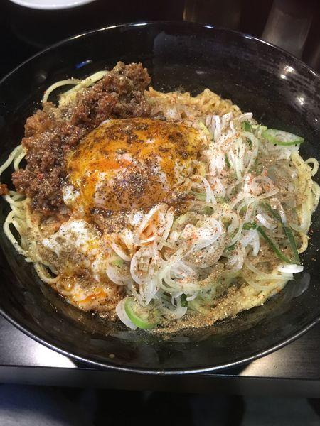 「広島風汁なし担々麺」@自家製麺 KANARIの写真