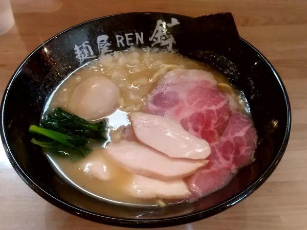「豚白湯ラーメン(全部のせ)1,080円」@麺屋 錬の写真