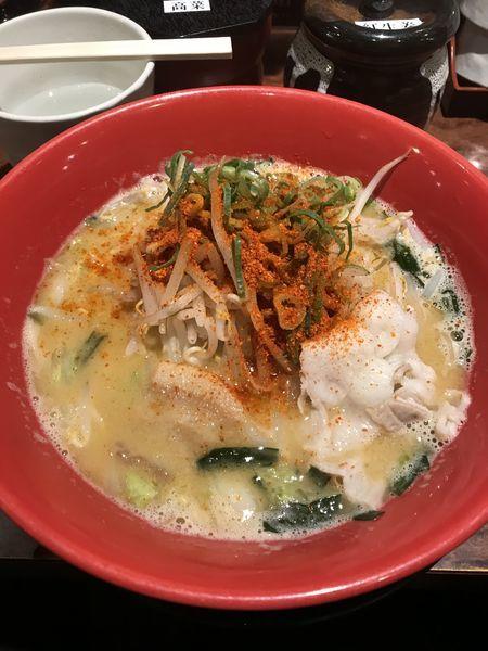 「新奈良豚骨ラーメン」@麺屋 青空 千日前通り店の写真