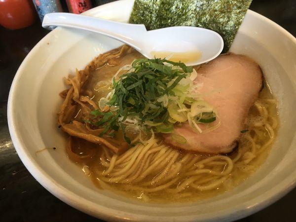「鶏濃麺塩+チャーシュー丼」@濃麺 海月の写真
