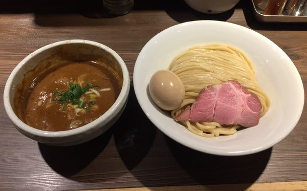 「半熟味玉伊勢海老つけ麺(中盛り)」@つけ麺 一燈の写真