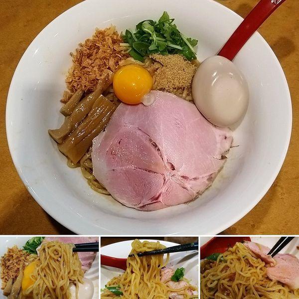 「油そば+味玉=800円」@麺屋 紅の写真