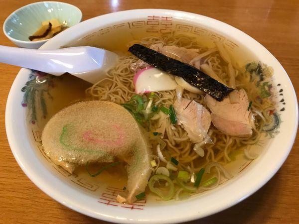 「冷がけ中華  550円」@丸竹食堂の写真