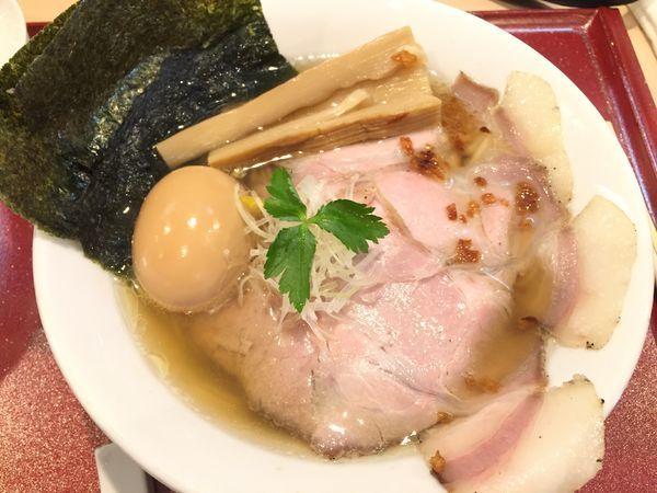 「特製金色貝そば」@燃えよ麺助の写真