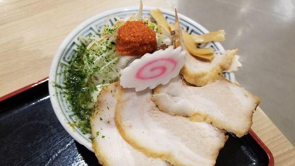 「からし味噌ちゃーしゅうめん ネギトッピング」@ちゃーしゅうや武蔵 イオン南松本店の写真
