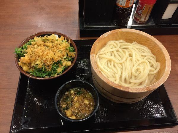 「釜揚げ(並)¥290+ご飯¥130」@丸亀製麺 大宮すずらん通り店の写真