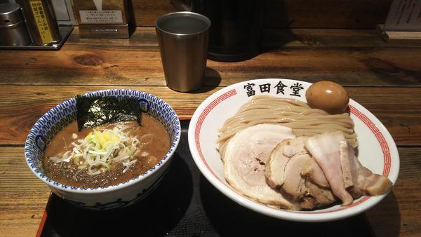 「特製濃厚つけ麺450g」@松戸中華そば 富田食堂の写真