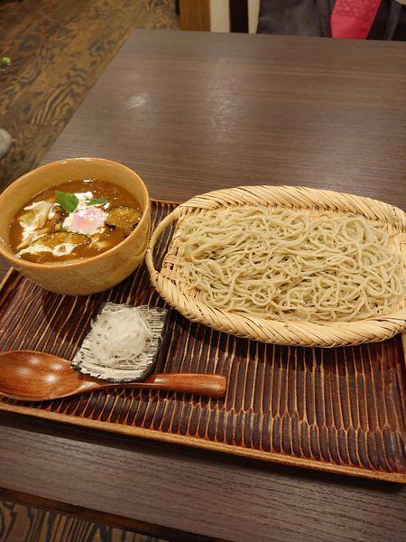 「鴨団子と季節の野菜つけカレー蕎麦」@手打ちそば処 かね田 宝庵の写真