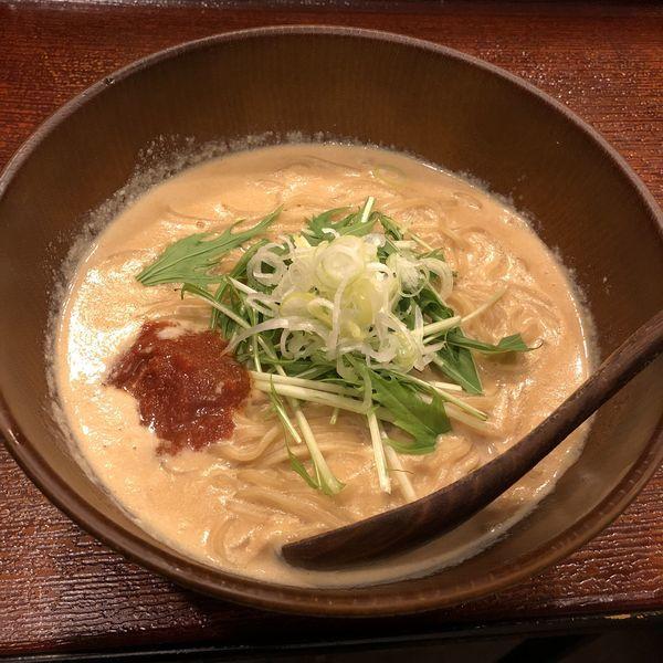 「豆乳明太チーズ担々麺」@森下の小粋な長屋ラーメン 熊八の写真