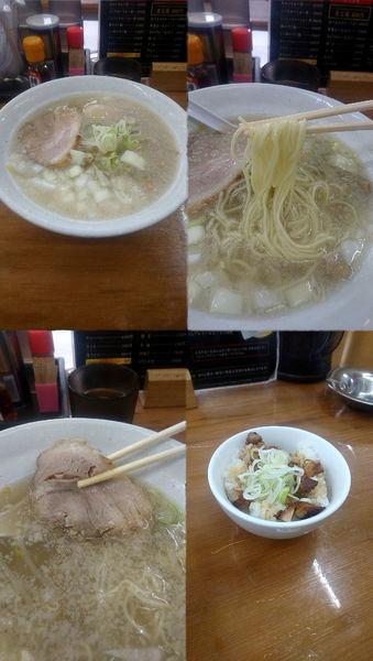 「味玉塩らーめん+ミニミニちゃーしゅー丼(¥800+200)」@麺道 靖の写真
