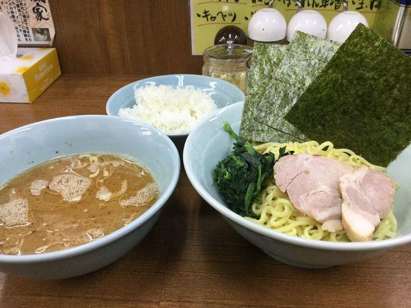 「つけ麺 並650円硬め濃いめ多め」@横浜ラーメン 武蔵家 北千住店の写真