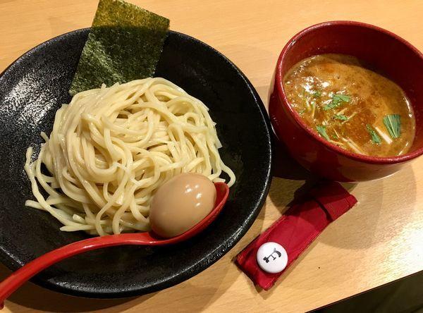 「味玉辛つけ麺(2辛・中盛)」@つけ麺 雀 天満橋店の写真